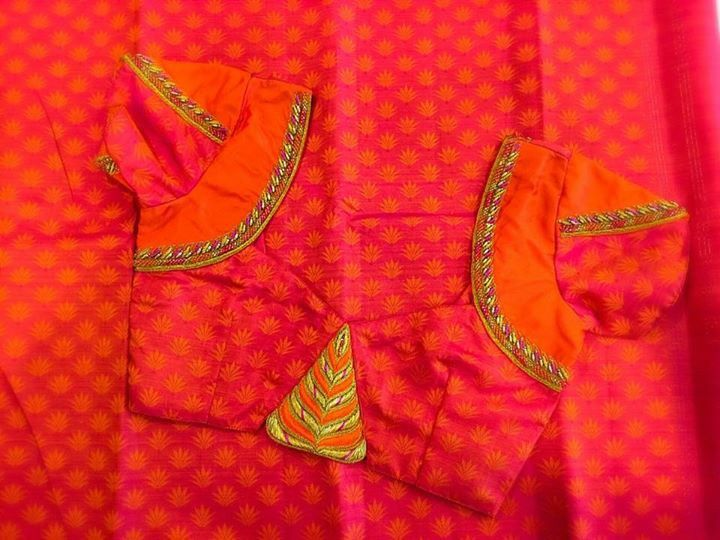 Best heavy maggam work blouses images on pinterest