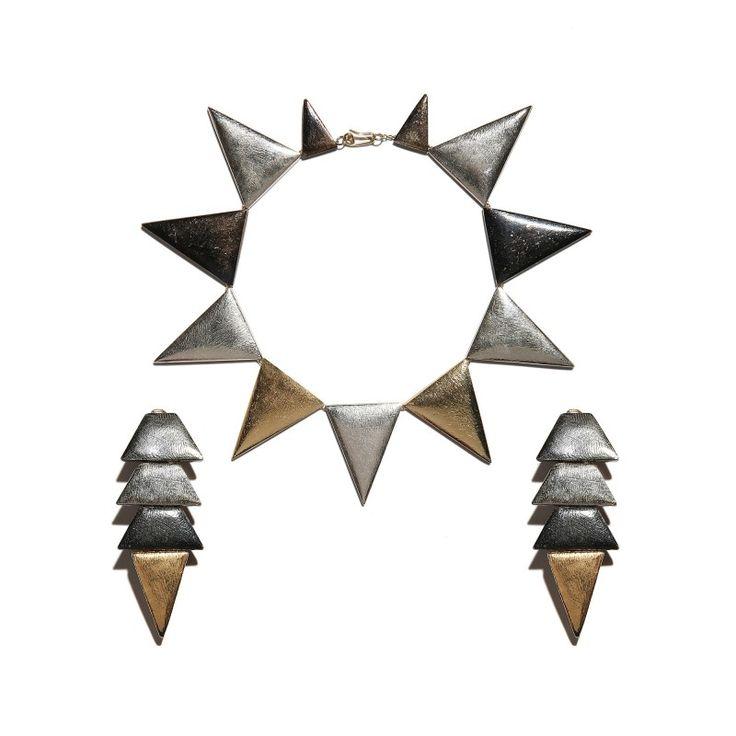 Vintage Yves Saint Laurent necklace and earrings set, c. 1978