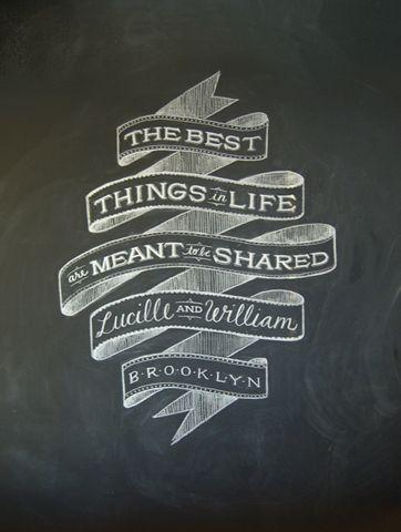 Chalkboard Ribbon Typography
