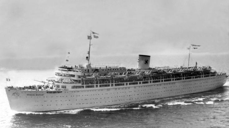 """Die 1938 in Dienst gestellte """"Wilhelm Gustloff"""" war das luxuriöseste Schiff der NS-Organisation """"Kraft durch Freude"""". Im Kriege wurde es als Lazarettschiff eingesetzt."""