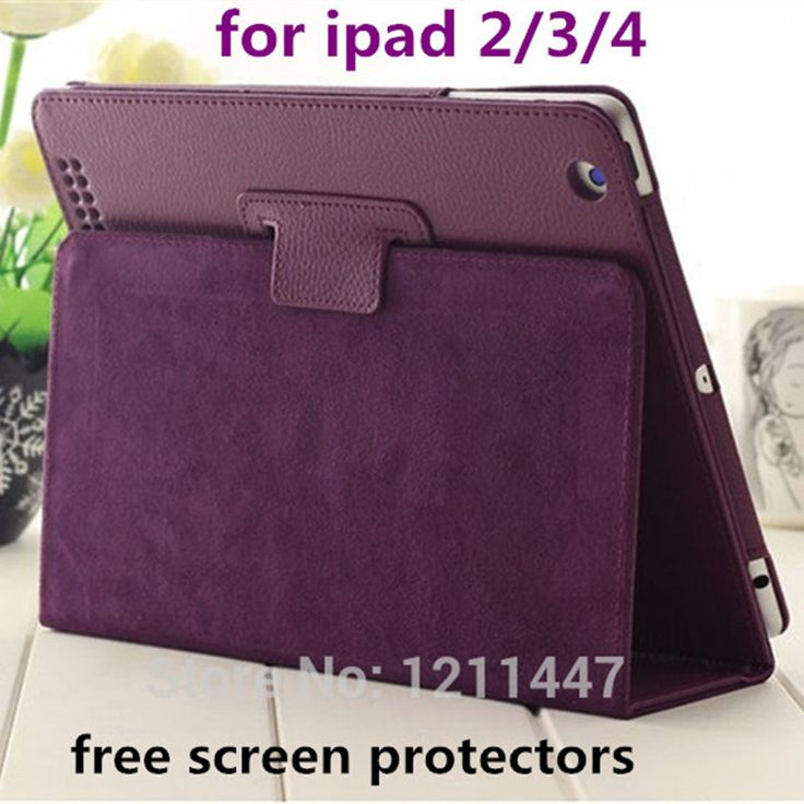 Estilo de luxo estande Design caso de couro magnetico Case para for apple iPad 2 3 4 tablet Smart Cover for iPad 4 Protetcors