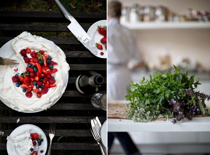 Pavlova, Whipped cream and Berries on Pinterest