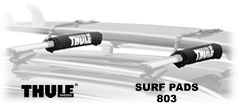 Thule 803 Surf pads (pair) to fit Thule aero and factory oval crossbars