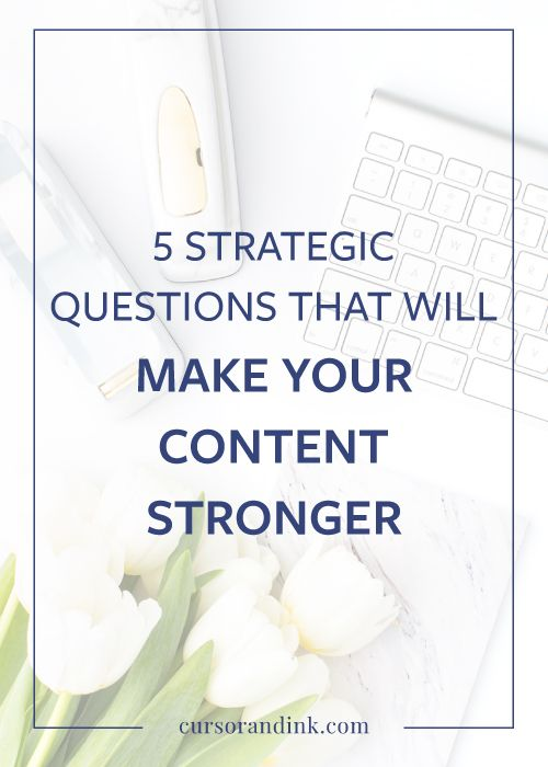 Want to write better content for your blog or website? This post shares five questions to ask yourself any time you start creating content for your creative business. Perfect for bloggers and creatives -- learn the tricks that copywriting experts use for content creation, content marketing, and content planning. Pin to save for later, or click to start writing better content now!