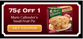 Marie Callender coupons.