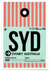 SYD-Sydney - Premium Poster