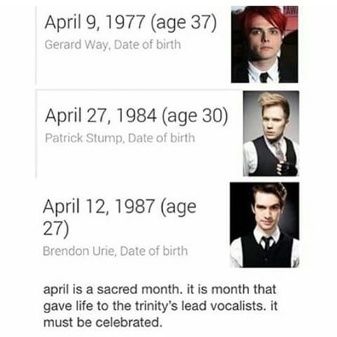 I have the same birthday as Patrick Stump, but tbh I wish I shared a birthday with Brendon Urie