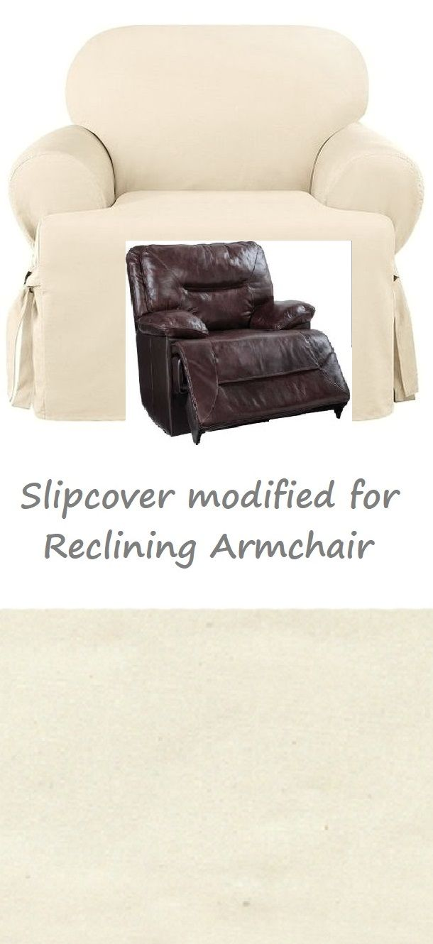 Reclining Chair Slipcover T Cushion Cotton Cream Sure Fit Armchair Slipcovers For Chairs Recliner Chair Recliner Chair Covers