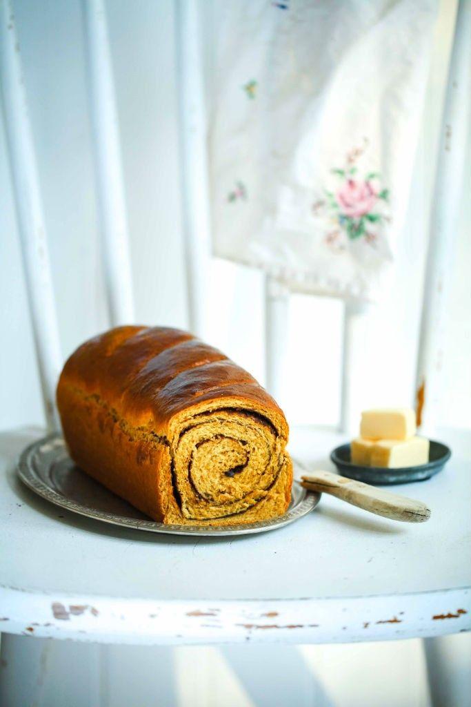 Rezept Kürbisbrot mit Schokoladenswirl - pumpkin bread with chocolate swirl recipe - Zuckerzimtundliebe
