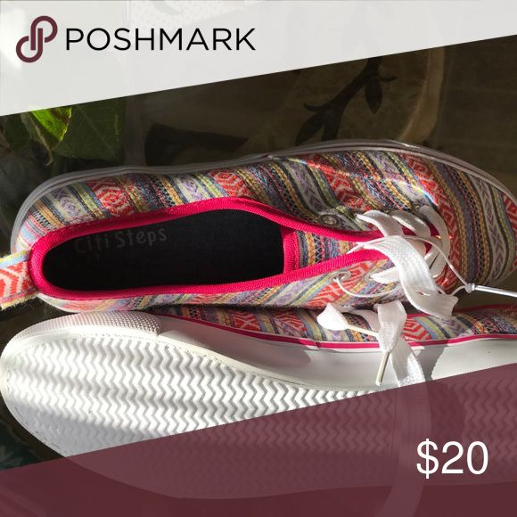 Berry Tribal Shoe Very nice print and color tennis shoe Shoes Sneakers