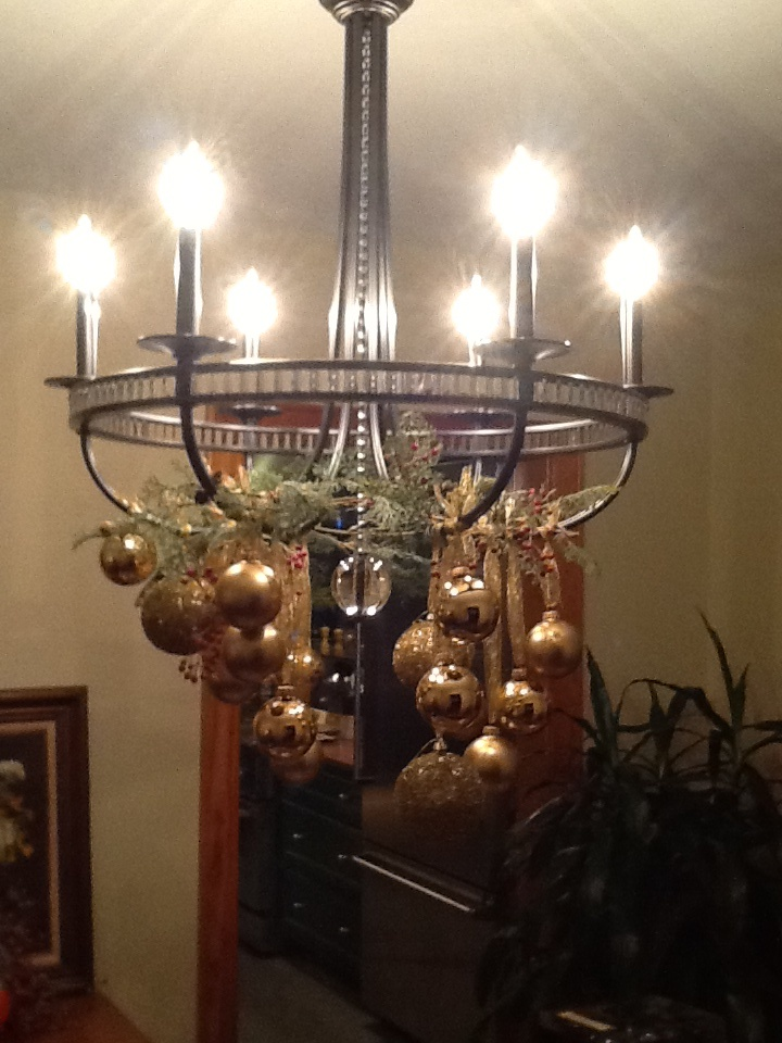 Holiday Chandelier Decorations