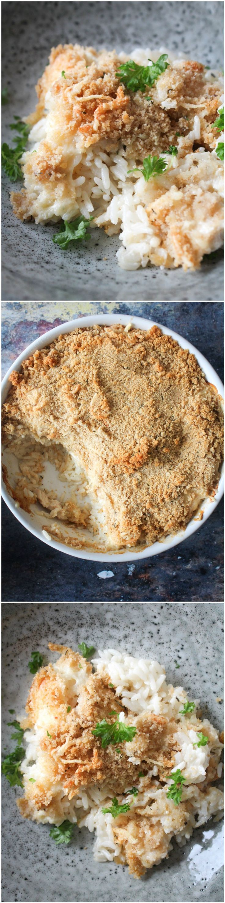 Rice bake- Rice casserole - chicken and rice - creamy rice - easy dinner