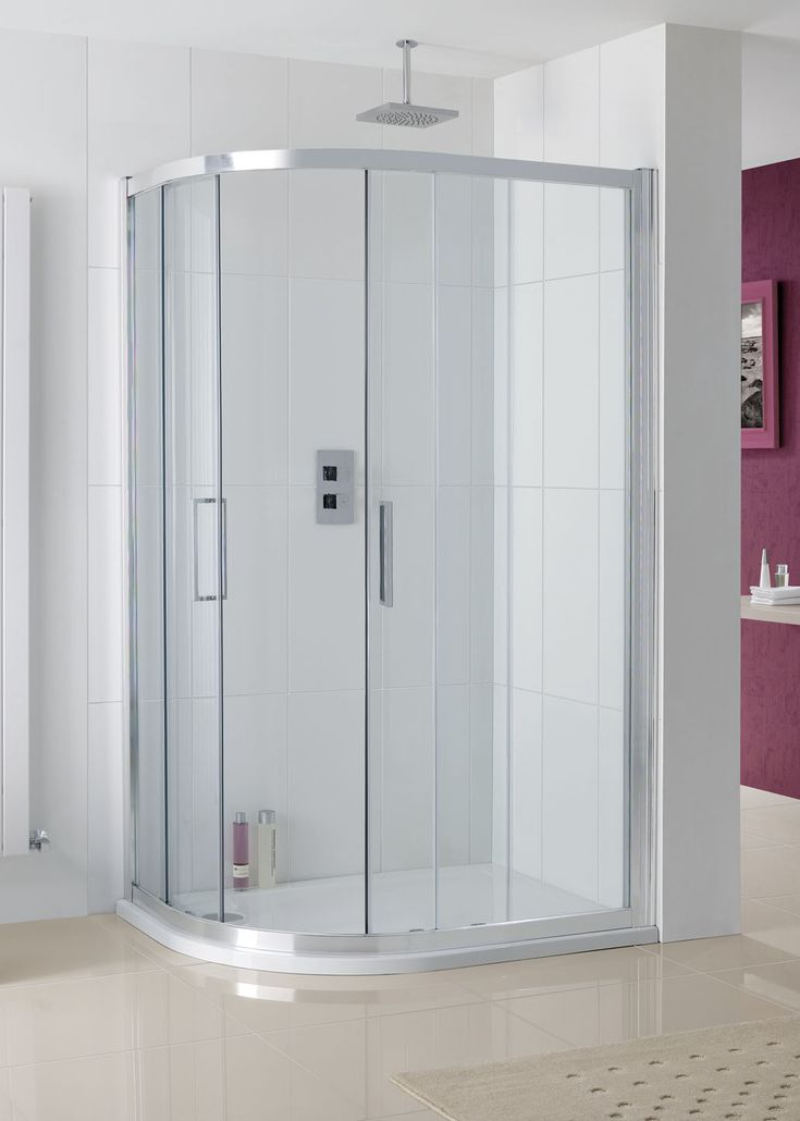 Valmiera Offset Quadrant Corner Shower Enclos | Lakes Bathrooms