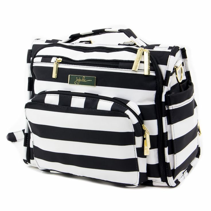 Legacy B.F.F. Diaper Bag - Need a chic diaper bag option?! This amazing black and white striped bag is not only stylish but super functional