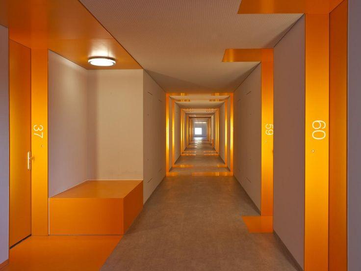 Corridor Design Color: HVDN Architecten - Student Housing Uilenstede