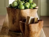 Whitewash Root Bowls - eclectic - serveware - - by VivaTerra