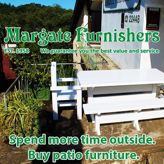Spend more #time #outside this #summer. Buy #patiofurniture to make your #yard or #balcony a #comfortable & #stylish area. #KZNsouthcoast #nature #Southbroom