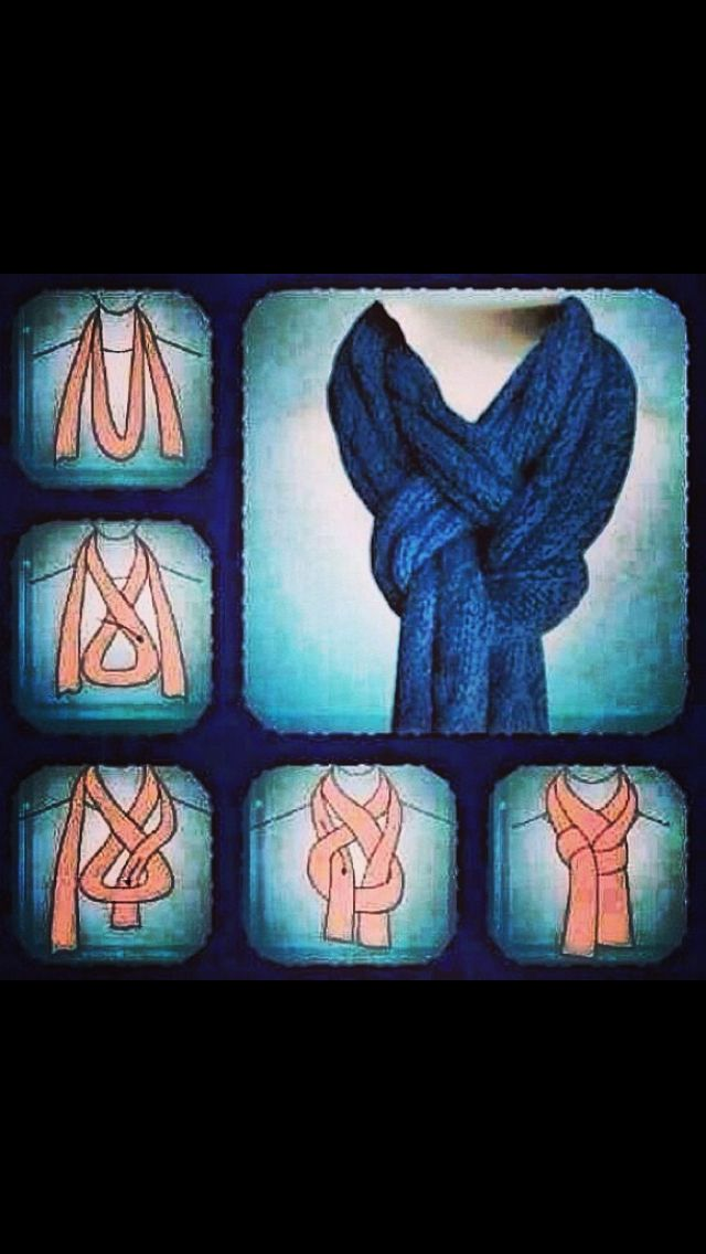 cool way to tie a scarf great ideas