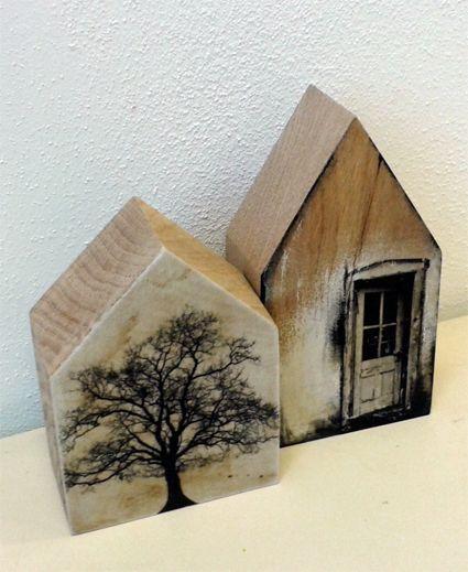 Saskia Obdeijn - Huisjes eikenhout