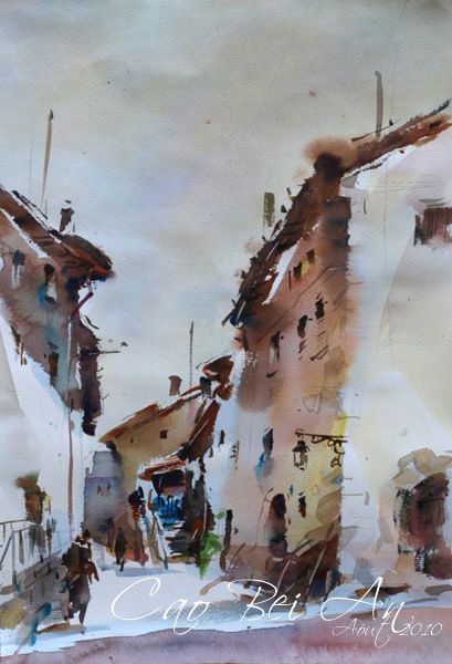 17 images about art cao bei an on pinterest for Aquarelliste chinois