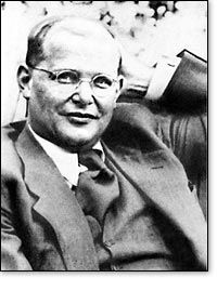 Dietrich Bonhoeffer (1906-1945) Pastor,Theologian, Author, Nazi Dissident / Executed by Nazi's two weeks before the end of WWII