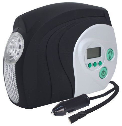 Digital Air Compressor 12-V Auto Shut-Off Traveling Tire Car Inflator LED Light #Slime