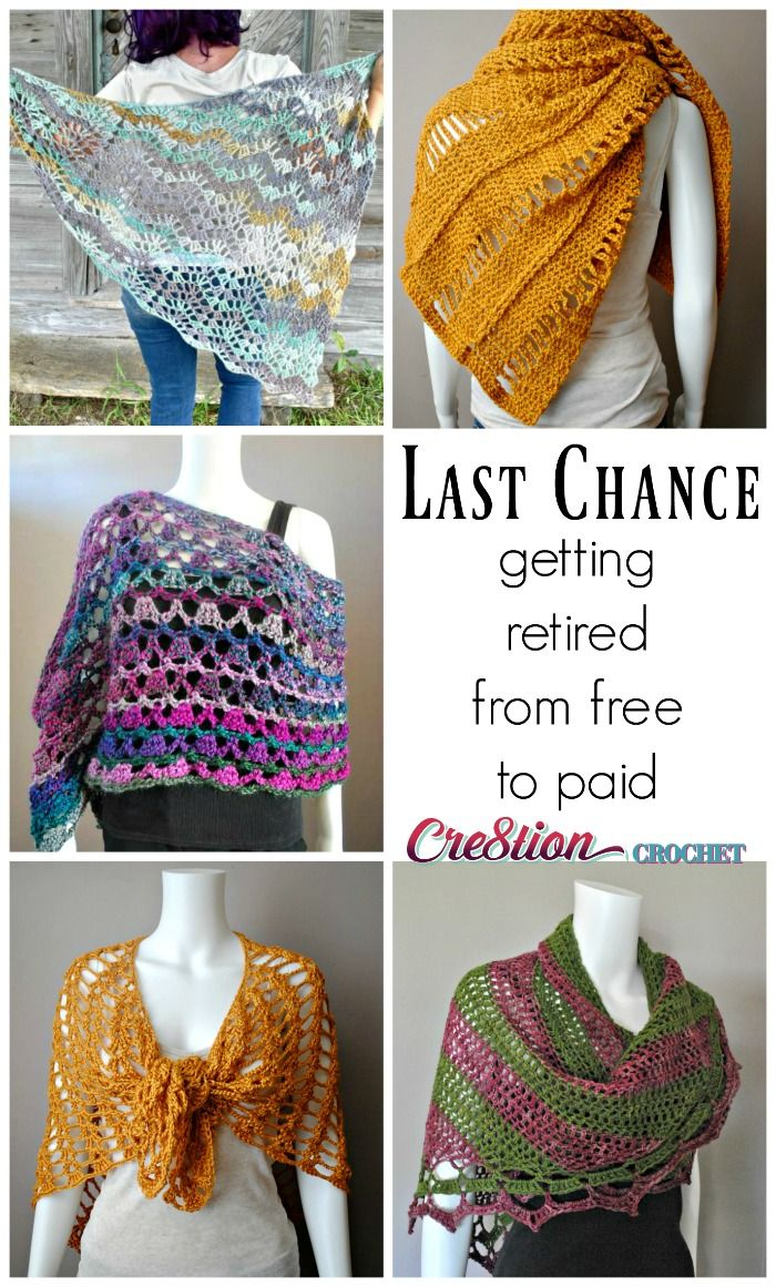 Goodbye 2016, hello 2017! These five Cre8tion Crochet Orignal designs are being retired from the Cre8tion Crochet blog and will become Premium Orignal Designs available on Ravelry and Craftsy.