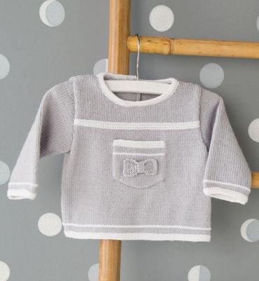 """Love this from phildar.com. """"Modèle pull brassière mixte Layette"""""""