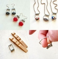 DIY Clothespin Jewelry DIY Projects - this looks simple enough for the kids to do.