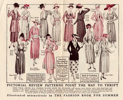 1910s aprons and photos | Pictorial Review Fashions, Summer 1918 | Kitchen Retro