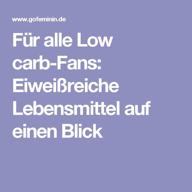 Für alle Low carb-Fans: Eiweißreiche Lebensmittel auf einen Blick