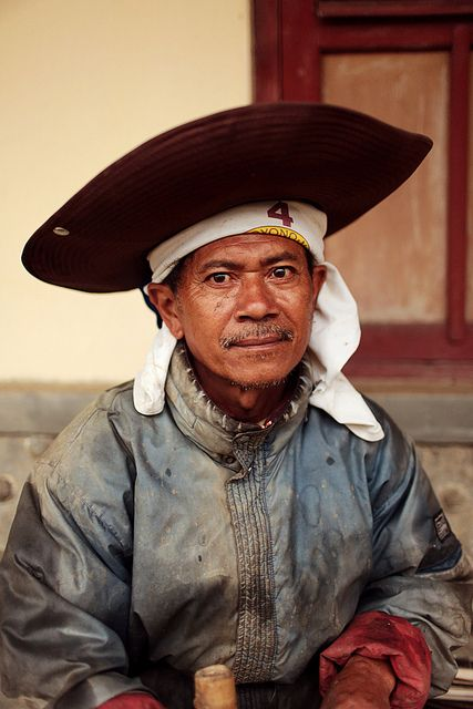 A Torajan man, Tana Toraja, Western part of Sulawesi/Celebes, Indonesia. One of community in Indonesia famous for their unique burial rituals and traditions although most of them are Christians now.