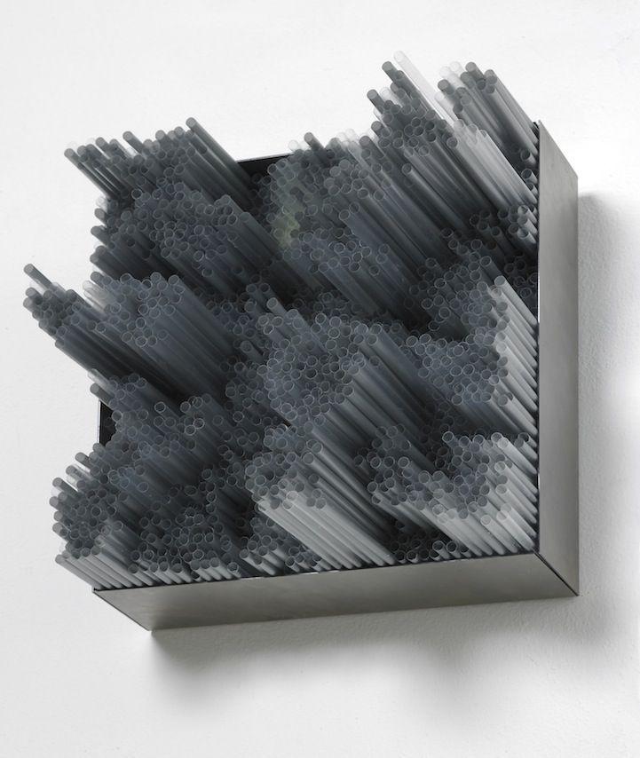 Francesca Pasqual  3D Straw Art Produces Beautiful Multi-Colored Layers - My Modern Metropolis