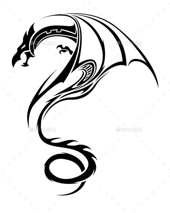 GraphicRiver Tribal Dragon Tattoo 8789679                                                                                                                                                                                 More