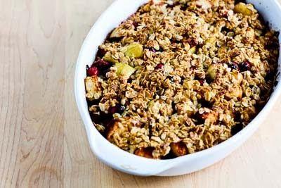 Recipe for Low-Sugar Gluten-Free Cranberry Apple Crisp [from Kalyn's ...