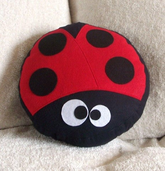 Lady The LadyBug Pillow - if it can be a cookie (or a cupcake), it can be a cushion!