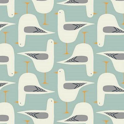 Curtains? Gwylan in Seafoam blue, and is by Welsh-born designer Jenny Lee-Katz.