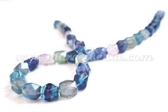 1 strand Faceted Rectangle Fluorite 1012mm by Margelbeads on Etsy