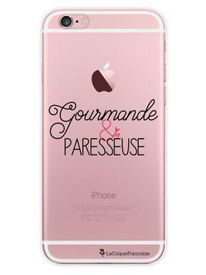 Coque transparente Gourmande et paresseuse pour iPhone 6S