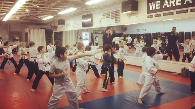 """Our Dragons class for 7-9 year olds filled up and we had to add another one! So grateful for this """"work"""" and this experience!  Love these kids.  #maffsb #hapkido #boxing #karate #santabarbara #teachingkids #martialarts"""