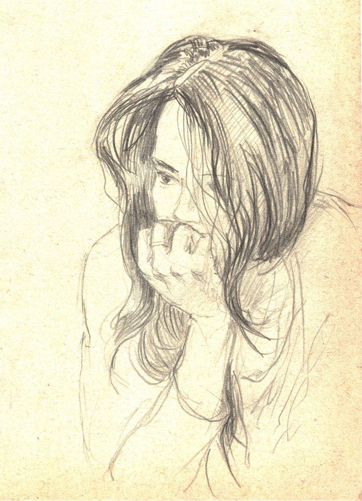 Sketch.  girl
