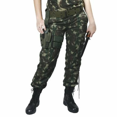 Calça Tática Camuflada EB/Paintball/Airsoft/SWAT 20% Off - Padrão RUE Calças Swat com Bolsos + Reforços no joelho Bolsos:  2 bolsos cargos com lapela, fechamento com velcro nas laterais da perna.             Ziper: Em aço (maior durabilidade do que os