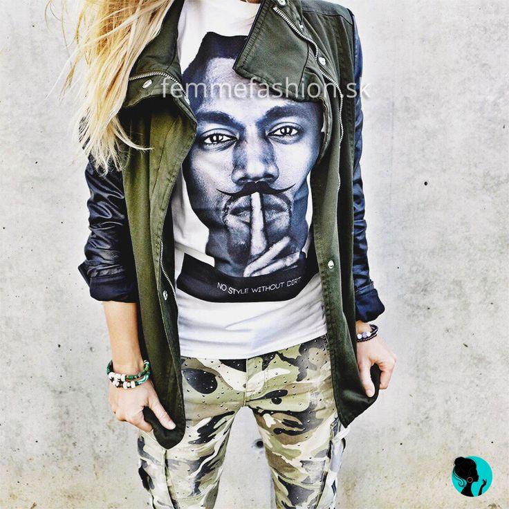 Tričko značky STYLE&DIRT -Kw MUSTACHE WHITE http://femmefashion.sk/styledirt/2689-tricko-kw-moustache-white.html