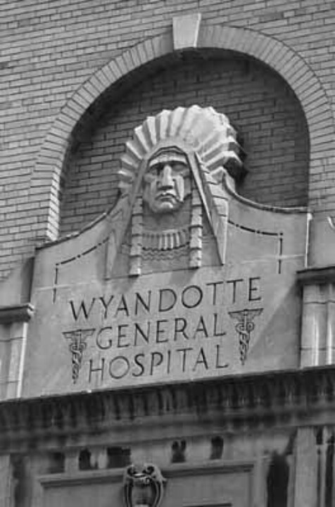 Wyandotte General Hospital sign....the street my family lived on until I was 3 was Wyandotte in Royal Oak!