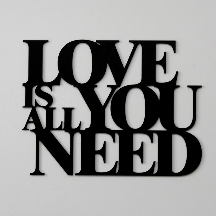#Napis na ścianę LOVE IS ALL YOU NEED