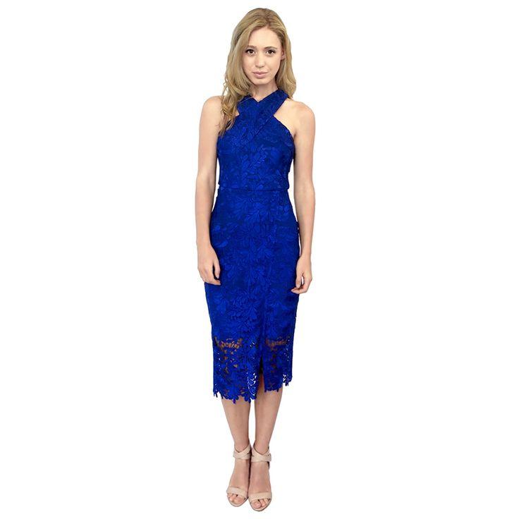 Danielle Blue Lace Cocktail Dress