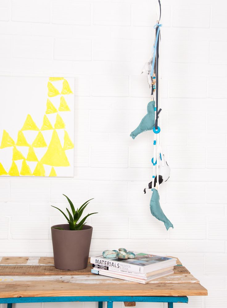 Handmade Wall Decoration 'Birds'.  100% Organic Cotton.  #heelathenslab #heelathens #heelhome #homecollection #birdsdecor #decor #walldecor #handmade #inspiredbynature #madeingreece #organiccotton #organicotton