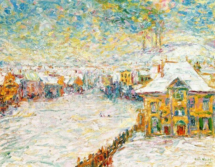 Emil Nolde Winter morning