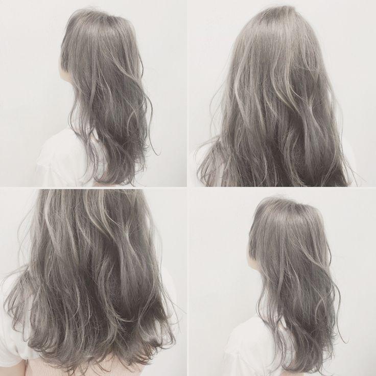 グレーのヘアカラーが引き出す垢抜け感。欲しいのはツヤと透明感♡|MERY [メリー]