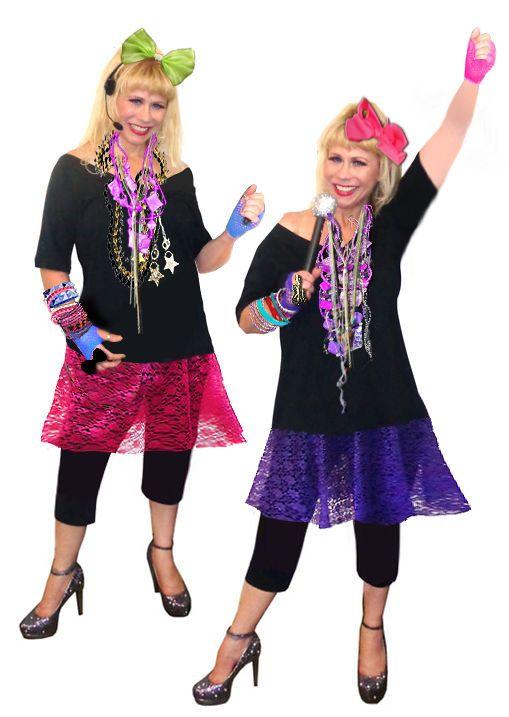 Sexy PLUS SIZE Madonna Style 1980's Punk Rocker Pop Star Costume SKIRT Set  #Sanctuarie #ALine